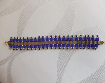 Tila bracelet two colors and seed beads
