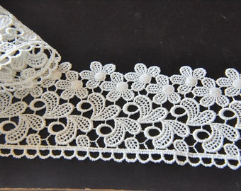 Cream Bridal Floral Lace Trim