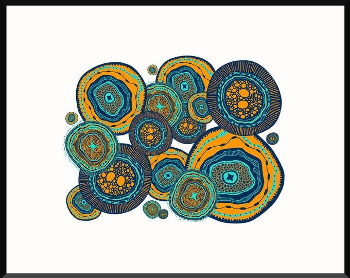 Color Wheels Print