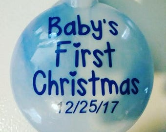 Baby's First Christmas Ornament, Baby Ornament, First Christmas Ornament, Personalized Ornament, Custom Ornament, Christmas Ornament