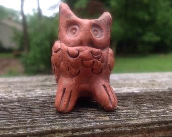 Owl ceramic incense stick holder