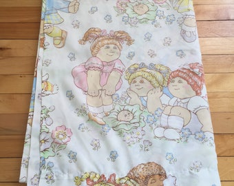 Vintage 1980s Cabbage Patch Kids Twin Flat Sheet!