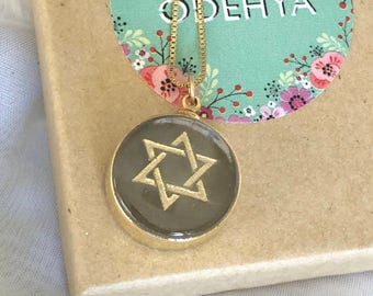 Star of David Necklace. Jewish Star Necklace. Jewish Jewelry. Magen David Necklace. Star of David Jewelry. Hanukkah gift for Her
