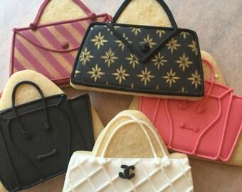 Fashion Purse Decorated Sugar Cookies-1 dozen