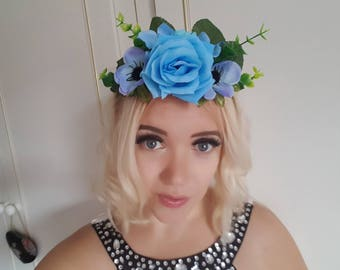 Flower Crown, Flower Tiara, Wedding Flower Crown