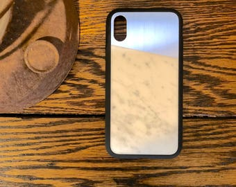 iPhone X Case Real Carrera Marble/Stainless Steel