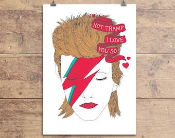 David Bowie Rebel Rebel Greeting Card
