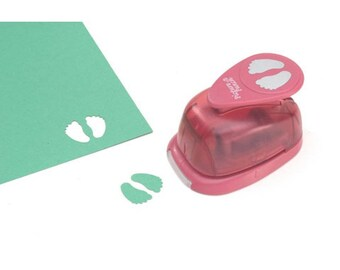 Picture Punch Double Baby Feet Punch, 1 Inch - Scrapbooking and Cards