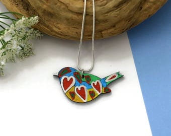 Laser Cut Necklace - Bird Necklace - Wooden Necklace - Wooden Jewelry - Unique Jewelry - Gift For Her - Nature Jewelry - Handmade Jewelry