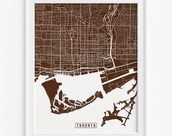 Toronto Print, Canada Poster, Toronto Poster, Toronto Map, Canada Map, Canada Print, Street Map, Ontario Print, Mothers Day Gift