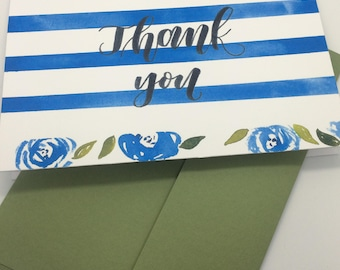 Thank you card,