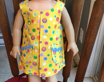 """Tank style dress fits 18"""" dolls such as American girl"""