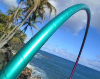 "7/8"" Sea Foam Satin Deco Taped Hula Hoop with Custom Tubing, Diameter and Grip Options!"