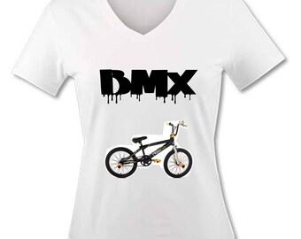 T-shirt V neck woman - BMX bike