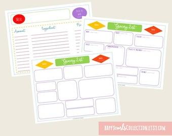 Grocery Binder Bundle {Home Organization Sheets} Instant Download // 8.5x11