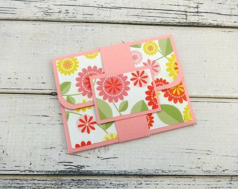 Gift Card Holder, Customizable Gift Card Holder, Gift Card Wallet, Gift Card Envelope, Birthday Gift Card Holder, Floral Gift Card Holder