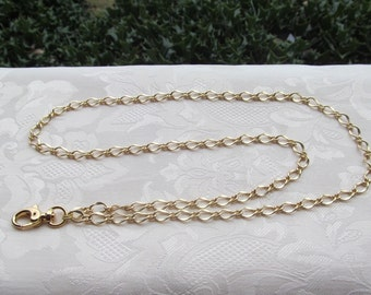 Gold Chain ID Badge Lanyard Matte Gold Half Flat Curb Chain Lanyard
