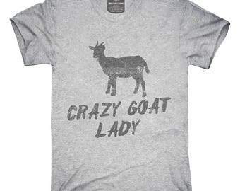Crazy Goat Lady T-Shirt, Hoodie, Tank Top, Gifts
