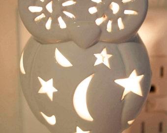 Ceramic Owl Night Light