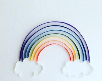 Quilled Art - Rainbow
