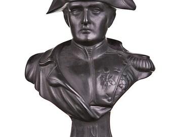 French Emperor Napoleon Bonaparte Stone Bust / Statue 13.5cm (5.3'') black