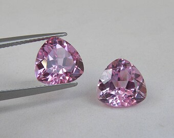 Fine Trillion Light Pink Sapphire Synthetic Corundum 4mm 5mm 7mm 10mm