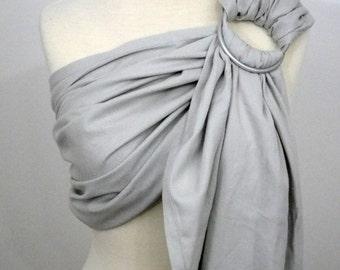 SHINY broken twill ring sling - 100% organic cotton- Limited edition - Princess - light grey