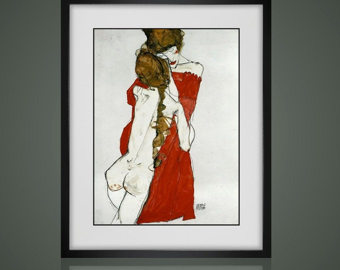Framed Wall Art - PRINTS By FAMOUS ARTISTS - Framed And Matted - Available In 4 Sizes - Choose Black or Antique White Frames -