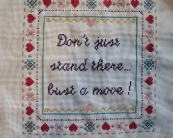 PATTERN Hip Hop Cross Stitch Bust a Move Young MC