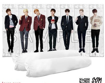 BTS Bangtan Boys Body Pillow/Bolster Case Version 1