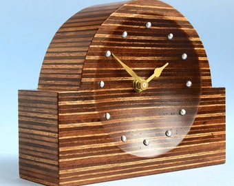 Recycled plywood clock CL195