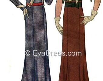 1932 Art Deco Frock Pattern by EvaDress