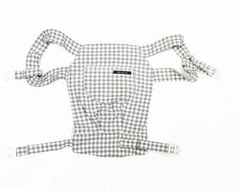 Doll Bear/Doll backpack Plaid Grey