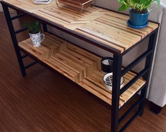 Reclaimed Wood Console Table, Entry Table, Sofa Table, Buffet - Handmade / Modern / Pallet / End Grain / Salvaged / Custom / Made to Order
