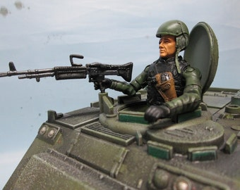 custom green Elite Force M-113 & driver