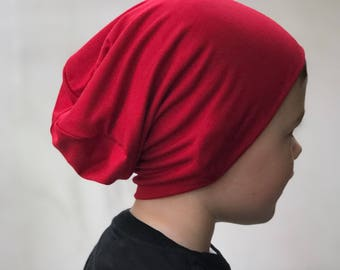 Baby red beanie/ baby slouchy beanie/ hipster hat/ hipster baby clothes/ kids valentines/ baby boy/ toddler clothes/ boy slouchy beanie/