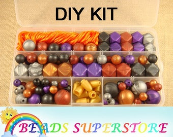 Baby's Paradise DIY Silicone Teething Necklace Exclusive Kit - Free Bead Storage Case Included
