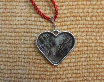 Dear Heart Sterling Plated Pendant Necklace