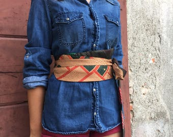 Obi Belt made with vintage ties