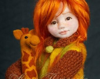 Needle felted doll Arisha