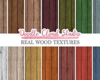 Real Wood digital paper, Vintage Colors, Wood Printables, Wood Backgrounds, Rustic Wood textures, Instant Download, Commercial Use
