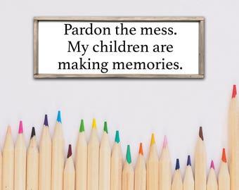 Kids Room Canvas Wood Sign