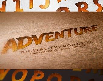 Digital Alphabet Adventure Scrapbooking Instant Download & PSD