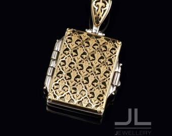 Allah Box Necklaces & Pendant Muhammad Sterling silver and 14K gold