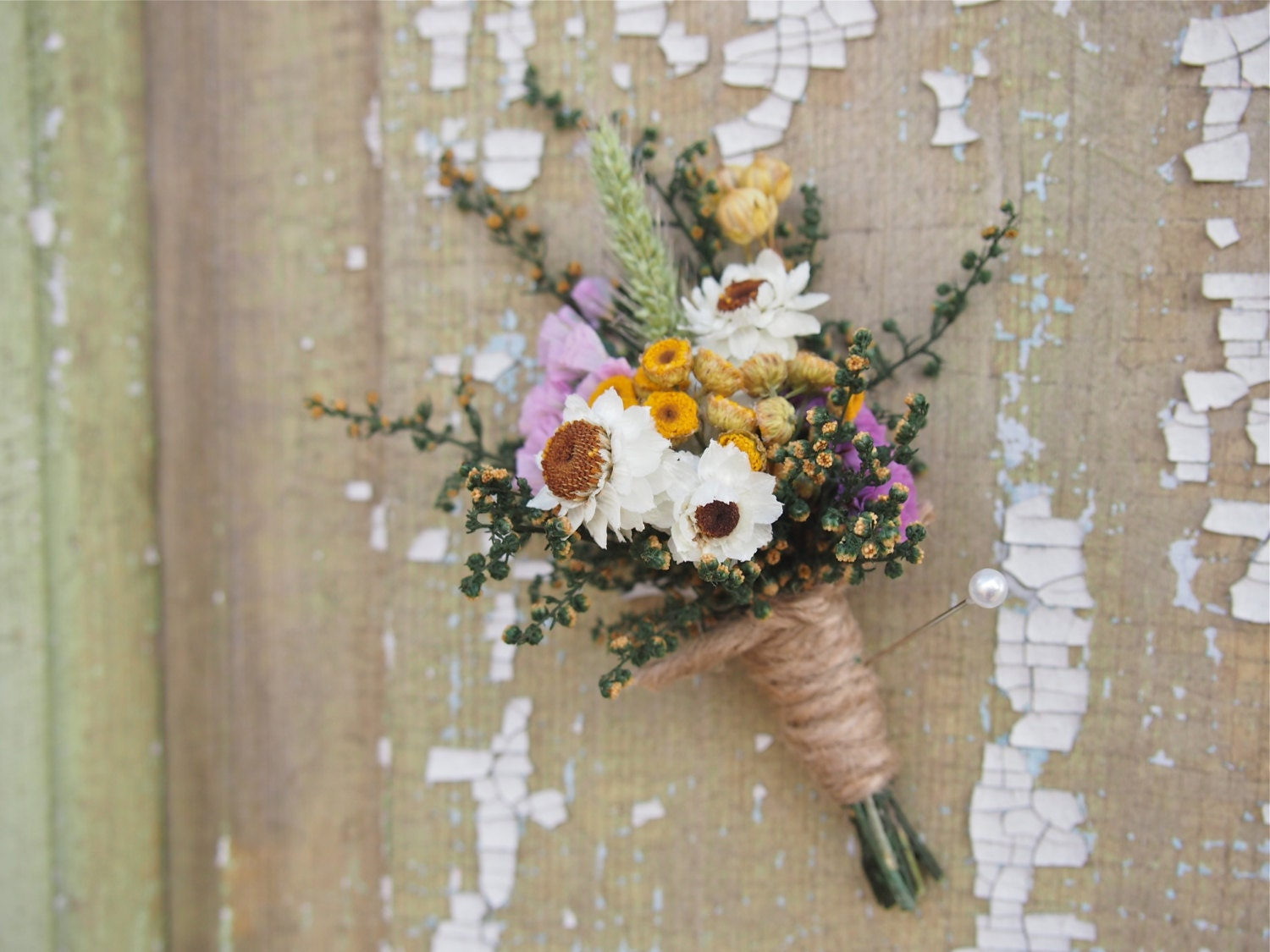 Our field flower dried flower wedding boutonniere perfect zoom izmirmasajfo Choice Image
