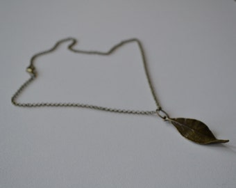 Bronze Leaf Pendant Necklace - your choice of chain