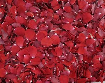 Bridal Red Rose Petals. 30 cups.  Flower Petals. Flower Confetti. Wedding Petals. Flower Girl Petals. Dried Flower Confetti. Petals. USA