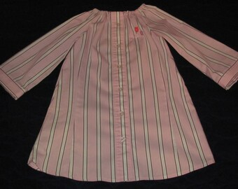 Upcycled Girls Pink Peasant Dress or Top, size 3 or 4