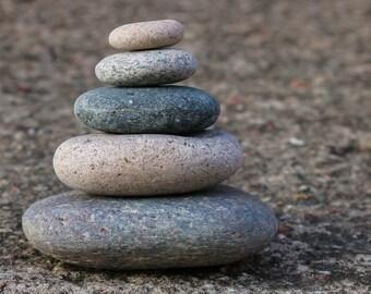 Garden Stones - Zen Balance Sculpture - Rock Cairn - Beach Stone Stack - Meditation Altar - Mindfulness