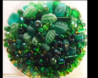 Herbs n Chives Bead Soup Starter Variety of Seed Beads Embellishment Quilting Sewing